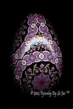 Magenta Circles Ukrainian Easter Egg Pysanky By So Jeo