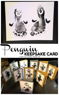Penguin Foot Print Cards Create these adorable penguin foot prints to treasure for many years to come. Penguin Foot Print Cards Create these adorable penguin foot prints to treasure for many years to come. Baby Christmas Crafts, Homemade Christmas Cards, Toddler Christmas, Xmas Crafts, Baby Crafts, Christmas Art, Handmade Christmas, Hand Print Christmas Cards, Childrens Christmas Card Ideas