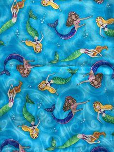 Mermaid fabric by Timeless Treasures