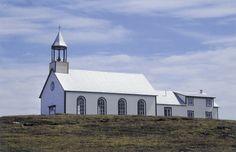 Une église dans l'île Providence au large de Tête-à-la-Baleine, Québec