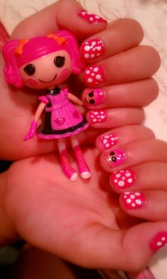 Lalaloopsy Nails  Molly u have to do my nails like this!
