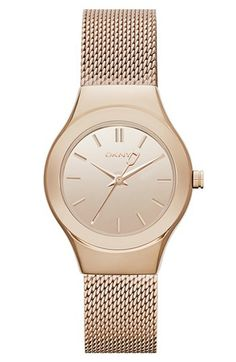 DKNY Round Mesh Bracelet Watch, 28mm available at #Nordstrom