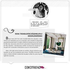 Leyla Olgaç Kamalı'dan renkleri değerlendirme fikirleri… #dekotrendburada #leylaolgackamali #dekorasyon #2017evdekorasyononerileri