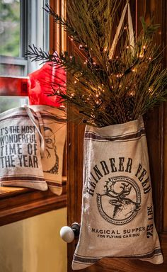 Reindeer Feed Bag from The Holiday Barn