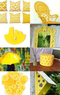 Sunny,inviting yellow. by RHONDA PIMENTEL on Etsy--Pinned with TreasuryPin.com