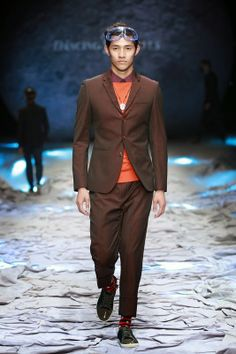 Male Fashion Trends: Dancing Wolves Autumn/Winter 2014 | Mercedes-Benz Fashion Week China