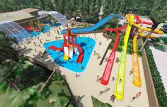 Le parc aquatique du camping La Sirène à Argelès-sur-Mer c'est un univers de 10 000 m² (2 000 m² de bassins) dans un décor tropical. 3 grands toboggans et un pentagliss multipistes. Nombreux autres toboggans de toutes tailles, pour petits et grands.
