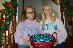Zeta Alpha Chapter (University of Evansville) members raised money for the ZTA Foundation by selling personalized, turquoise ornaments. They sold the ornaments as holiday gifts to sisters, family members and ZTA alumnae!