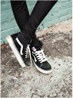 vans, shoes, and black-bild Sock Shoes, Vans Shoes, Cute Shoes, Me Too Shoes, Your Id Store, Vans Sk8 Hi, Tenis Vans, Vans Girls, Diesel Punk