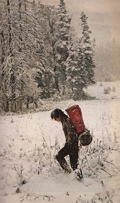 Hike in the snow