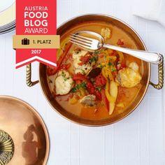 Ein glänzender Abend und ein preisgekröntes Rezept! | neuensausderküche Austria Food, One Pot Meals, Cheeseburger Chowder, Thai Red Curry, Soup, Fish, Eat, Cooking, Ethnic Recipes