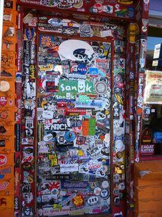 front door of the Red Iguana, Salt Lake City, Utah.