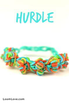 How to Make a Rainbow Loom Hurdle Bracelet