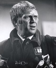 Steve McQueen in Towering Inferno Steeve Mcqueen, The Towering Inferno, Firefighter Training, Disaster Movie, American Legend, No Way Out, Celebrity Photos, Movie Stars, Marie