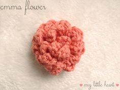 Crochet Flower Pin - Wool