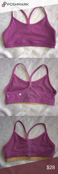Lululemon Flow Y size 6 purple pink Lululemon athletica Flow y racer back athletic sports bra.  Size 6 lululemon athletica Intimates & Sleepwear Bras