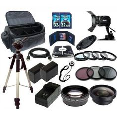 Advanced Accessory Package for Canon XA10 HD Professional Camcorder by Digital. $129.95. This Package Includes:  Video Light HDMI Cable Close-up Lens Kit 3 Piece Filter Kit Wide Angle Lens Telephoto Lens Lens Cap Lens Cap Keeper 2 Extended Life Replacement Battery Rapid Home & Travel Charger 64GB High Speed Memory Card 57 in 1 High Speed Memory Card Reader Memory Card Wallet Full Size Tripod Large Deluxe Bag