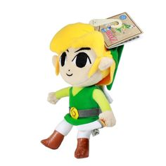 """Link Plush plushie - 7""""  legend of  Zelda, young toon link adorable doll New"""