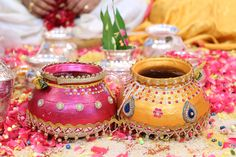 Decorative pots or matka in weddings