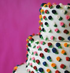 Mini rose cake side angle