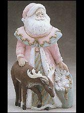 Ceramic Bisque Santa with Reindeer, U Paint All Things Christmas, Christmas Ideas, Christmas Crafts, Merry Christmas, Painted Ceramics, Ceramic Painting, Santa With Reindeer, Ceramic Bisque, Ceramics Ideas