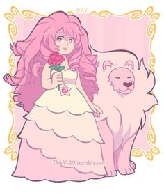 Rose Quartz ans Lion