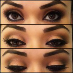Neutral Eyeshadow & Smudged Eyeliner.