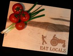 Personalized Cutting Board Spalted Maple Serving Tray by OSOhome, $55.00