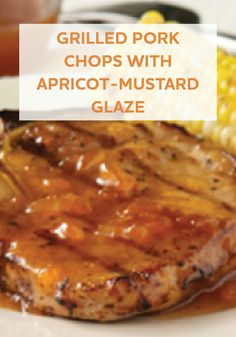 With just 4 ingredients and 15 minutes, you can have these Grilled Pork Chops with Apricot-Mustard Glaze ready to eat!