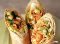 Honey Mustard Chicken Wraps for the kids. (Lunch idea?)