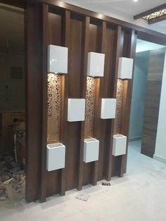 45 Brilliant Partition Wall Design Ideas To Blow You Away - Engineering Discoveries Wooden Partition Design, Wood Partition, Living Room Partition Design, Living Room Tv Unit Designs, Room Partition Designs, Room Door Design, Home Room Design, Wall Design, Front Design