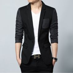 Casual Men Blazer in Black or Casual Men Blazer in Gray. This Men Sports Jacket is best selling item and fit perfectly with Plain Shirt or even a Casual Plain Tee Shirt. $20 instant discount here on o