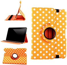 "myLife Princeton Orange, Black and White Polka Dots {Professional Executive Carrier} 360 Degree Rotating Case for Amazon Kindle Fire HD 8.9 (High Quality Koskin Faux Leather Cover + Slim Lightweight Design) ""All Ports Accessible"" myLife Brand Products http://www.amazon.com/dp/B00TQ83MSY/ref=cm_sw_r_pi_dp_cEfdvb078B4NR"