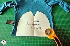 Mütze aus einem Shirt herstellen. Den Saum kann man sich dadurch sparen. Das Schnittmuster gibt es auch.