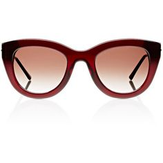 Thierry Lasry Women's Cupidity 509 Sunglasses ($279) ❤ liked on Polyvore featuring accessories, eyewear, sunglasses, no color, lens glasses, cat eye glasses, cat eye sunglasses, thierry lasry glasses and cat-eye glasses