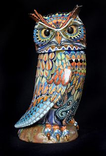 Owl - David Burnham Smith - Ceramic Artist Pinned by www.myowlbarn.com