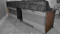 How to Make a Shoe Storage Bench out of a Habitat ReStore Wall Cabinet - Pretty Handy Girl Build A Shoe Storage Bench, Kitchen Storage Bench, Window Seat Storage, Table Storage, Storage Benches, Window Seats, Storage Ideas, Bay Window Benches, Old Bed Frames
