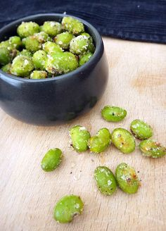 Crispy Parmesan Edamame (Soy Beans). Love these! I can eat them like pop corn.