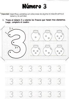 El número 3: 5 años - Material de Aprendizaje