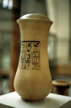 Canopic jar, vessel used for burial of embalmed viscera, Ancient Egypt