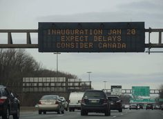 Inauguration Day Consider Canada Traffic Sign Is Fake
