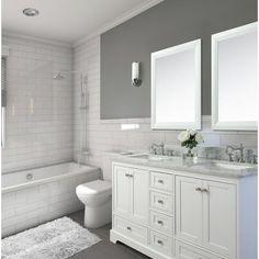 Longford 60 Double Bathroom Vanity Set Birch Lane™ - Where can you buy bathroom furniture Master Bath Remodel, Remodel Bathroom, Inexpensive Bathroom Remodel, Tub Remodel, Restroom Remodel, Shower Remodel, Traditional Bathroom, Modern Traditional, Bathroom Interior Design