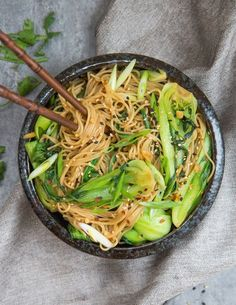 15 sesame ginger noodles are quick and easy to make!