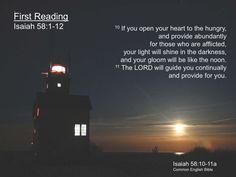 Isaiah 58:10-11  http://www.slideshare.net/CommonEnglishBible