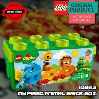 LEGO 10863 My First Animal Brick Box DUPLO Mainan Anak Hewan Original #thekingbricks #theking #thekingid #kingbricks #gvonline #uhappyihappy #tokolegoterpercaya #tokomainanoriginal #lego10863 Lego Duplo Sets, Lego City, Lego Star Wars, Brick, Toys, Animals, Activity Toys, Animales, Animaux