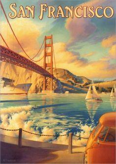 San Francisco Vintager Poster by Kerne Erickson