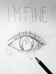 Just a quick breaktime drawing (didn't done my best) Depressing Paintings, Sad Paintings, Small Canvas Paintings, Diy Canvas Art, Tumblr Drawings, Sad Drawings, Dark Art Drawings, Art Drawings Sketches, Pencil Drawings