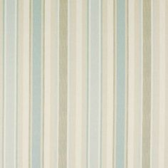 Blue Striped Drapery | Awning Stripe Duck Egg Fabric