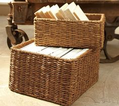Samantha Seagrass Baskets #potterybarn
