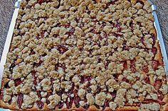 Pflaumenkuchen mit Pudding und Streusel (Rezept mit Bild)   Chefkoch.de